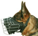 Police Wire Dog Muzzle for German Shepherd- GSD Cage Muzzles-M57