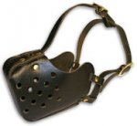 Leather Standard Dog Muzzle for Medium Breeds Rotty, GSD, Pitbull, Bulldogs...