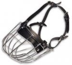 Medium Cage Dog Muzzle for Medium Breeds-WIRE Basket Dog Muzzle