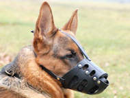 Leather Dog Muzzle for GERMAN SHEPHERD-Not Latigo Muzzle