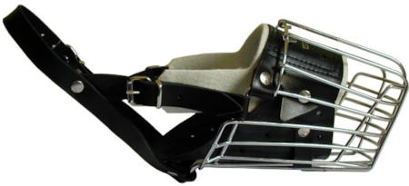 wire basker dog muzzle full padded for Belgian Malinois