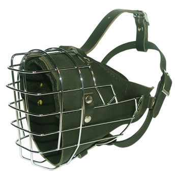 Full Padded Wire Dog Muzzle For German Shepherd, k9 dogs