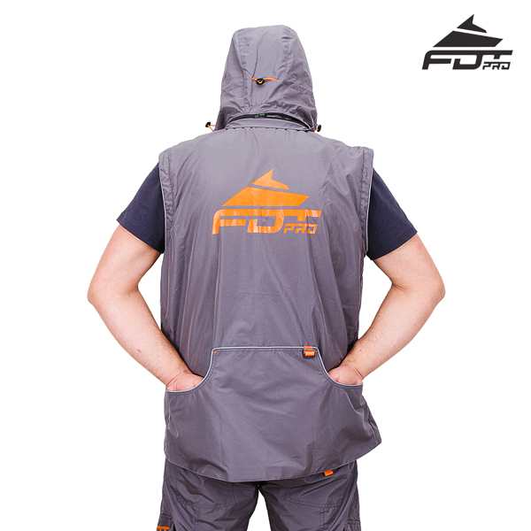Reliable Dog Tracking Suit Grey Color from FDT Pro