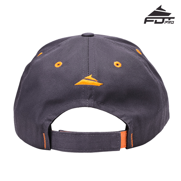 Dog Walking Easy to Adjust Unisex Snapback Cap Dark Grey Color
