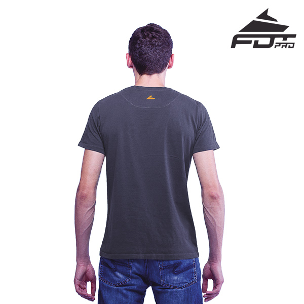Men T-shirt Dark Grey Color Professional for Dog Training