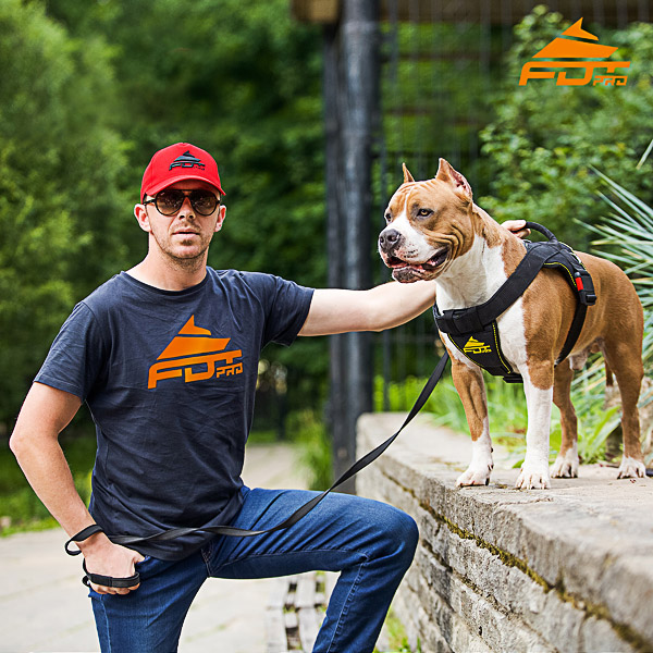 Men T-shirt of High Quality Cotton with Pro Logo for Dog Training