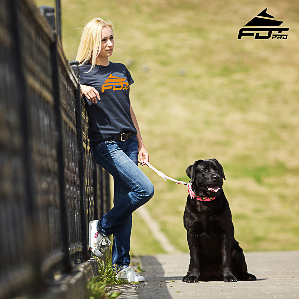Women T-shirt of Top Notch Cotton for Dog Walking