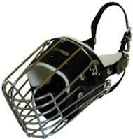 Full Padded Wire Basket Dog Muzzle for Rotty, GSD, Malinois